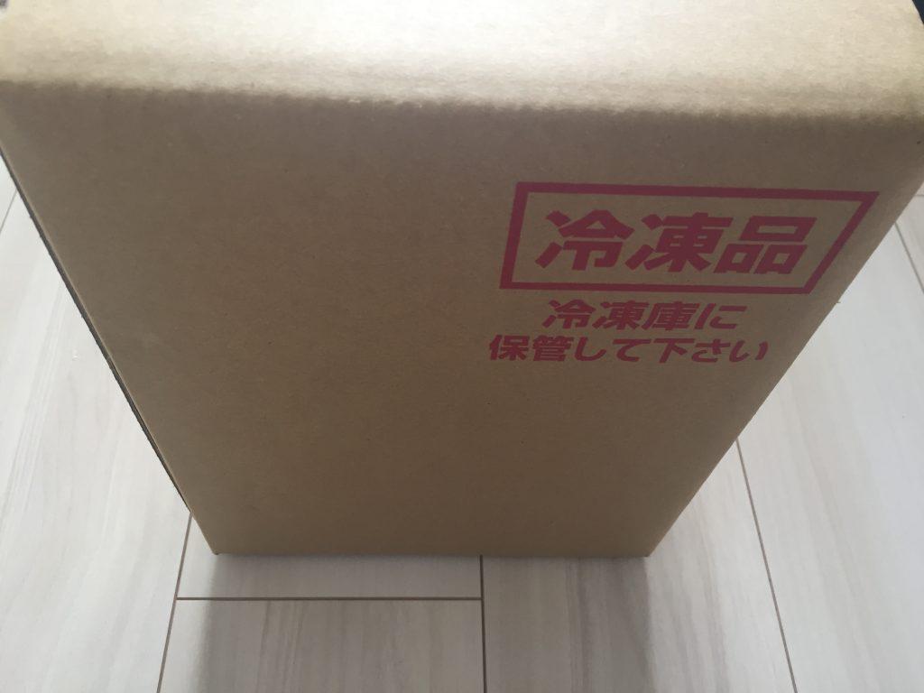 Muscle Deli(マッスルデリ)の冷凍宅配弁当の段ボール箱